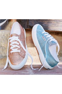Superga Textured Metallic Sneakers
