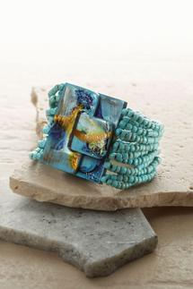 Marbleized Buckle Bracelet