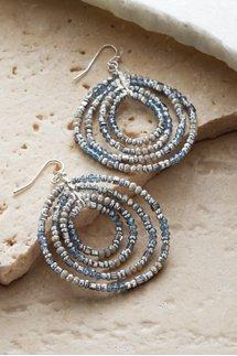 Rings Of Beads Earrings