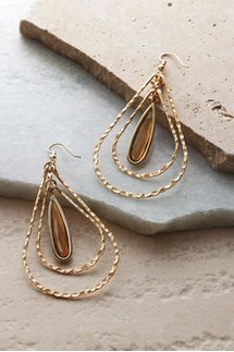 Illusion Trance Teardrop Earrings