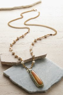Drop Tiger Stone Necklace