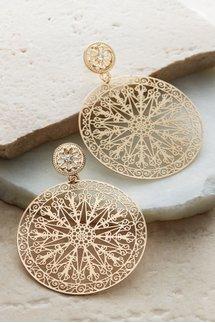 Ornate Disc Earrings