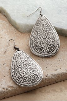 Etched Cowgirl Earrings