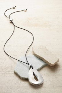 Teardrop Aluminum Necklace