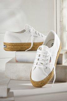 Superga Jute Platform Sneakers