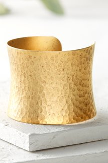 Goddess Hammered Cuff