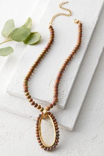 Oblong Pellet Necklace