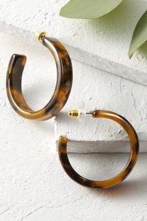 Siri Tortoise Resin Earrings