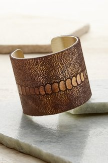 Snakes Embossed Cuff