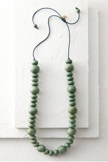 Wood Adjustable Midi Necklace