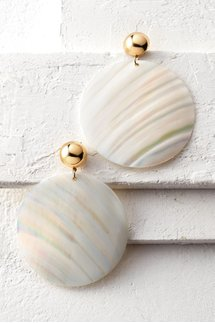 Shell Disc Earrings