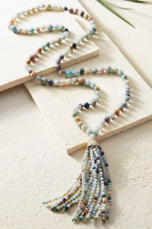 Sofi Amazonite Tassel Necklace