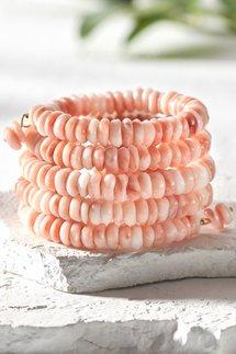 Spiral Beaded Stacked Bracelet