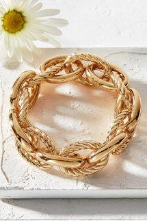 Textured Link Stretch Bracelet