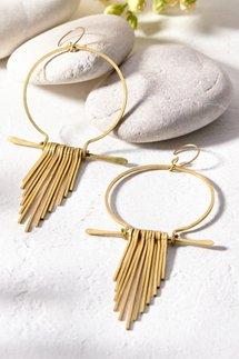 Brass Fringe Earring