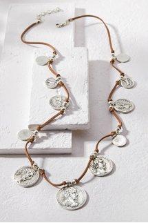 Suede Coin Necklace