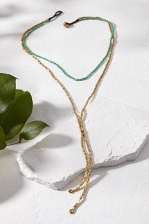 Brass Beaded Double Layer Necklace