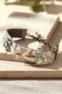 Floral And Crystal Bracelet