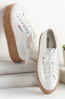 Superga Jute Platform Sneaker