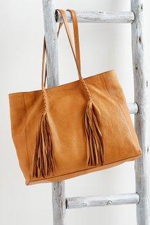 Leather Fringe Tote