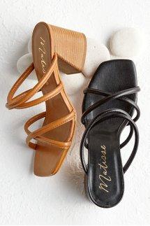 Strappy Slide Heel