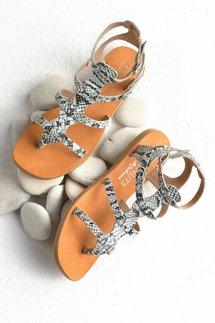 Exotic Print Flat Sandal