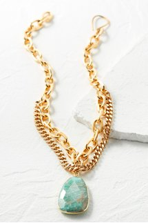 Amazonite Mixed Chain Necklace