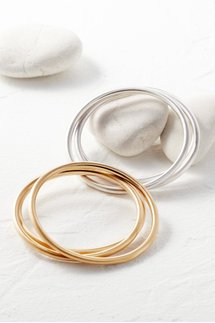 Satin Trio Bangle Set