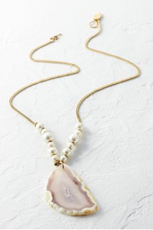 Agate Pearl Necklace
