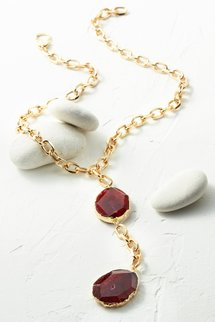 Convertible Double Agate Necklace