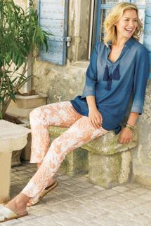 Shimmer Paisley Pants