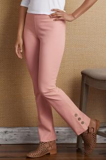 Cotton Stretch Ankle Pants
