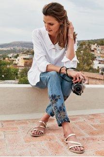 Roxy Embellished Denim Pants