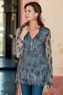 Aurora Embroidered Silk Tunic
