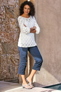 Summer Fun Ruched Crop Pants