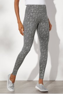 Superslim Silver Foulard Leggings