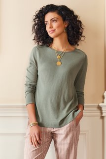 Go Lively Button Back Sweater
