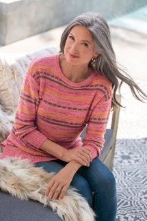 Lisabetta Art Stripe Sweater