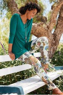 Superla Stretch Pull-On Floral Straight Leg Pants