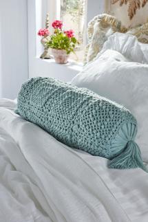 Crochet Knit Bolster Pillow