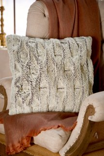 Paris Faux Fur Square Pillow