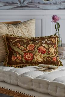 Autumn Bouquet Needlepoint Pillow