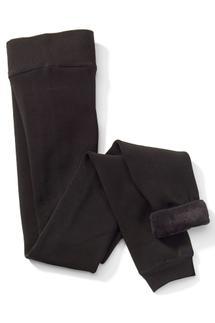 Fur Lined Solid Leggings