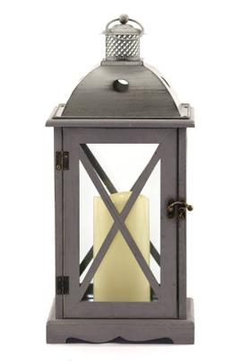 Crossbar Flameless Candle Lantern