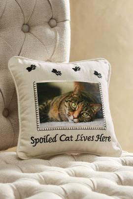 Spoiled Cat Lives Here Pillow