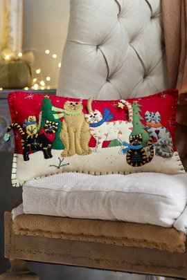 The Cat Pack Holiday Pillow