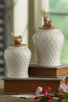 Crackle Vanity Jar