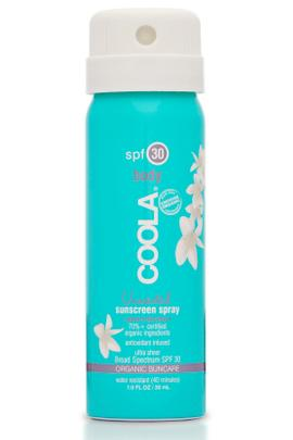 Coola SPF30 Unscented Sunscreen Spray