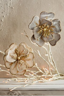Holiday Hibiscus Clip Ornament