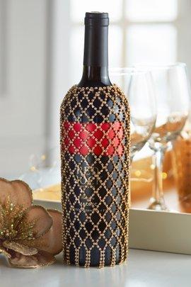 Jeweled Wine Bottle Sleeve